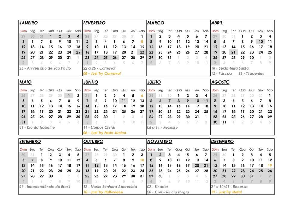 calendario escola de musica
